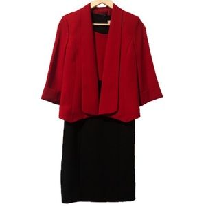 Kasper Shawl Collar Blazer Dress Suit Set